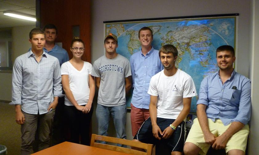 russian students with tutors